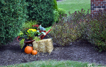 Wheelbarrow Turned Fall Planter