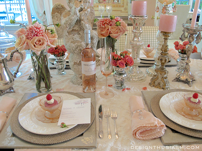 Tablescape Pink T Cancer Foundation Rose Feminine Dining Room Ideas Flowers Home Decor