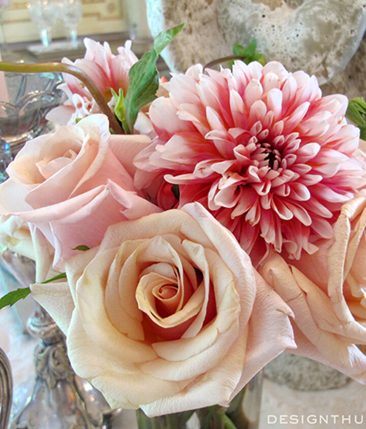 tablescape pink breast cancer foundation rose feminine, dining room ideas, flowers, home decor