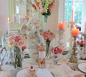 tablescape pink breast cancer foundation rose feminine dining room ideas flowers home decor