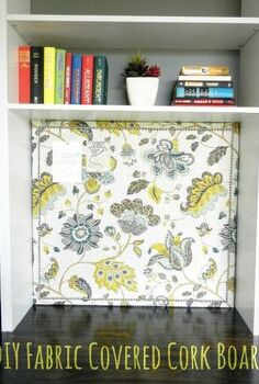 diy fabric covered cork board, crafts, reupholster
