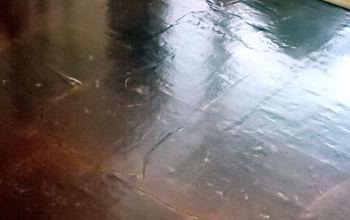 floors brown paper bag update, flooring, repurposing upcycling