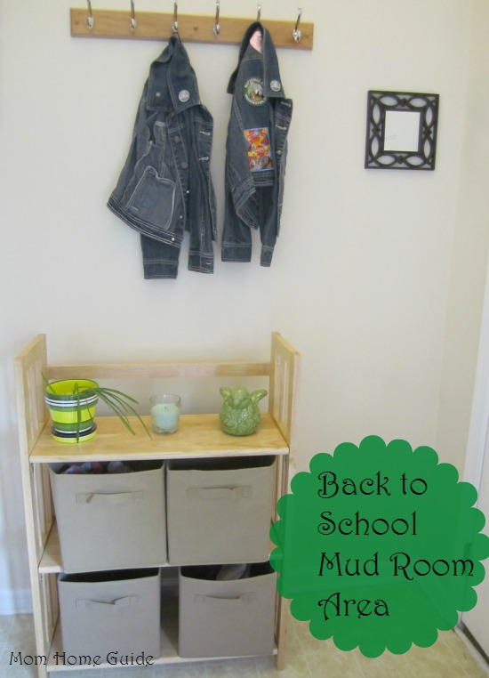 back to school mud room, foyer