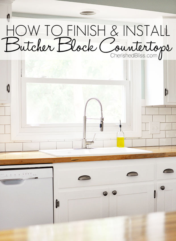 Install Butcher Block Kitchen Countertops