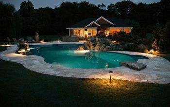 destination backyard retreat makes a splash, home improvement, outdoor living, patio, pool designs, Destination Pool