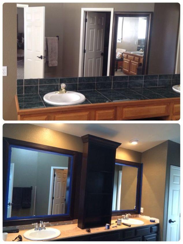 master bath redo wood staining general finishes java, bathroom ideas, diy, flooring, kitchen cabinets