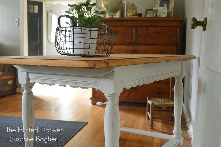 painted furniture desk french country farmhouse wood, painted furniture