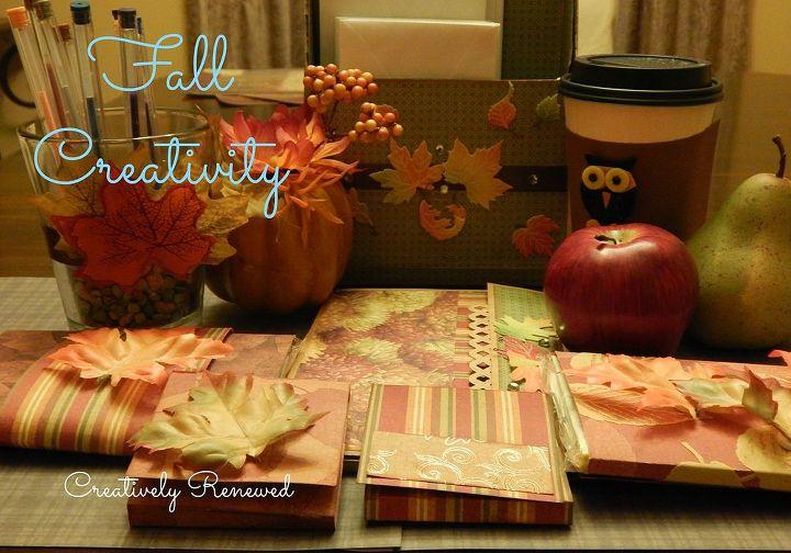 fall decor workspace leaves, seasonal holiday decor