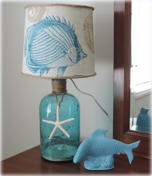 Diy Bottle Lamp Decoupage Lighting Repurposing Upcycling