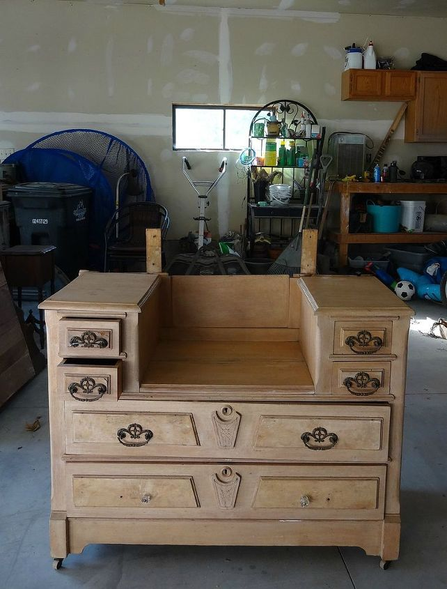 painted furniture antique vanity black, painted furniture, shabby chic, woodworking projects