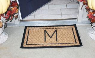 diy rug monogrammed outdoor, porches, reupholster