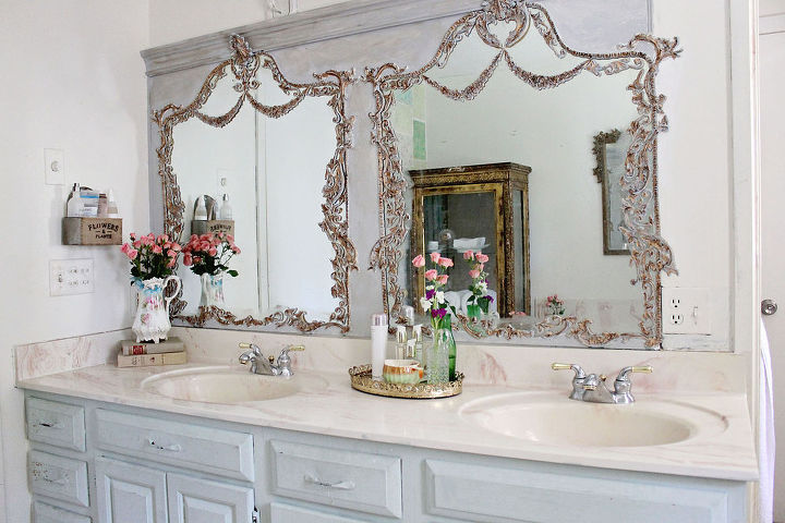 mirror builders grade turned trumeau, bathroom ideas, diy, repurposing upcycling, wall decor