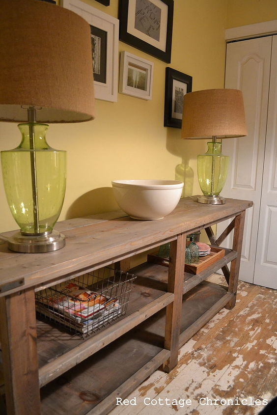 Rustic buffet table hometalk home decor rustic buffet table diy home decor rustic furniture woodworking projects watchthetrailerfo