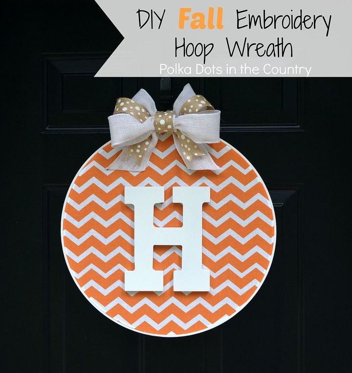 diy fall embroidery hoop wreath, crafts, reupholster, wreaths