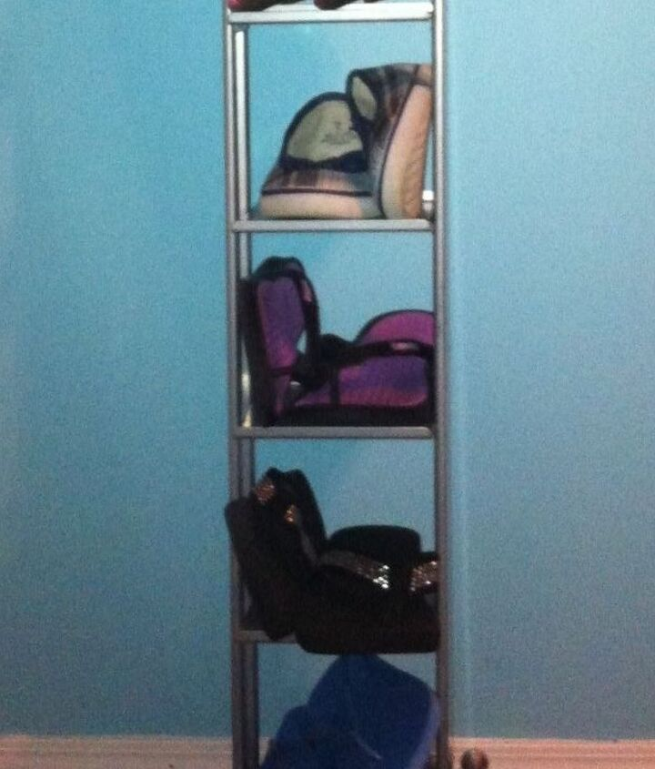 cd tower turned shoe rack, organizing, repurposing upcycling, storage ideas