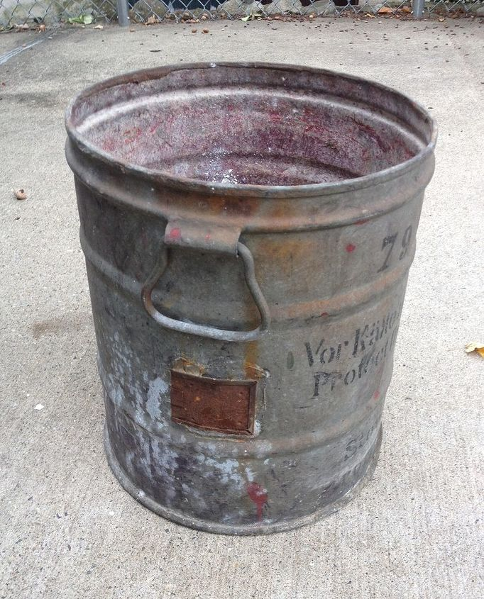 q vintage rusty bucket repurpose upcycle ideas suggestions, repurposing upcycling