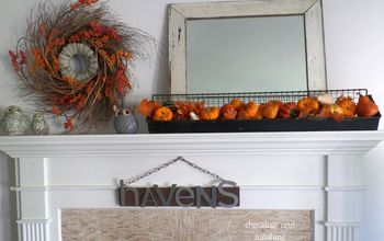 Using Vintage Pieces for a Unique & Colorful Fall Mantle