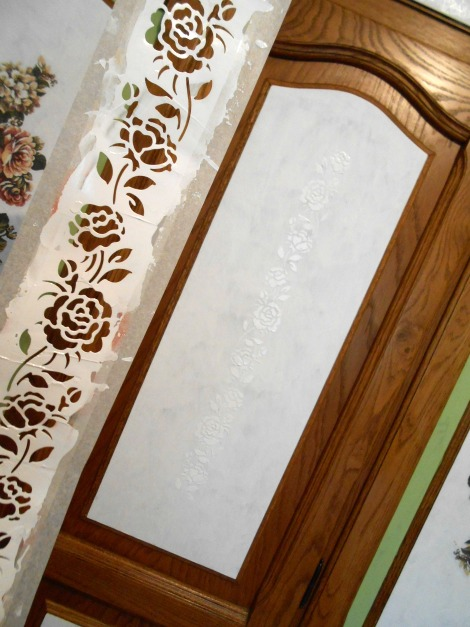 bedroom painted makeover stencil floral, bedroom ideas, paint colors, painted furniture, painting