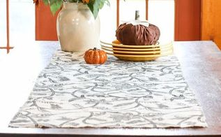 how to make no sew burlap table runner fall decor, crafts, how to