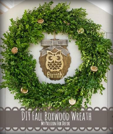 diy fall boxwood wreath, crafts, seasonal holiday decor, wreaths