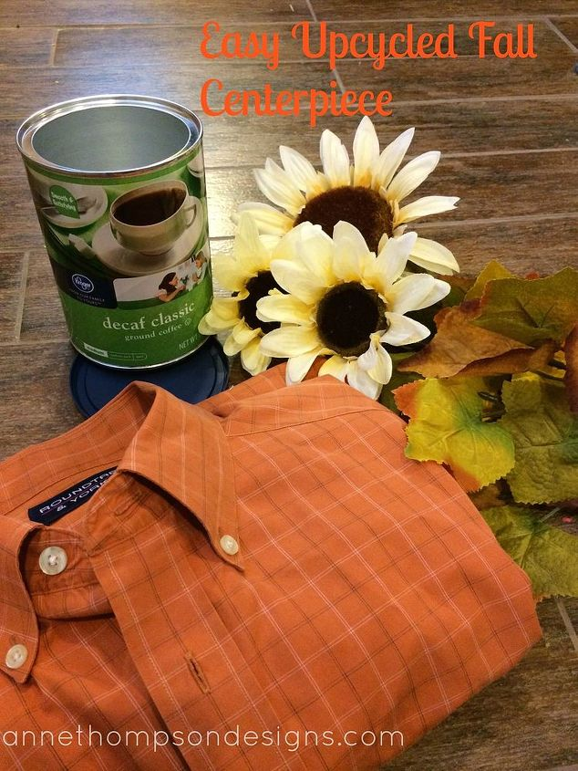 fall centerpiece easy upcycled, crafts, repurposing upcycling, seasonal holiday decor