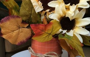 Easy Upcycled Fall Centerpiece