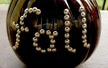 Stained and Studded Pumpkin