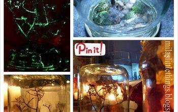 DIY Glowing in the Dark Halloween Tree in a Jar Tutorial!