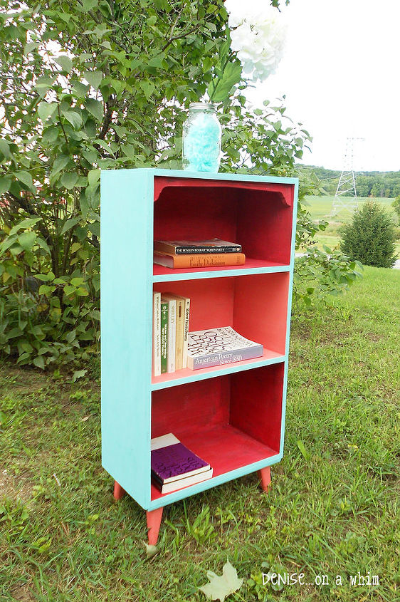 painted furniture bookcase makeover mcm mid century modern, chalk paint, painted furniture