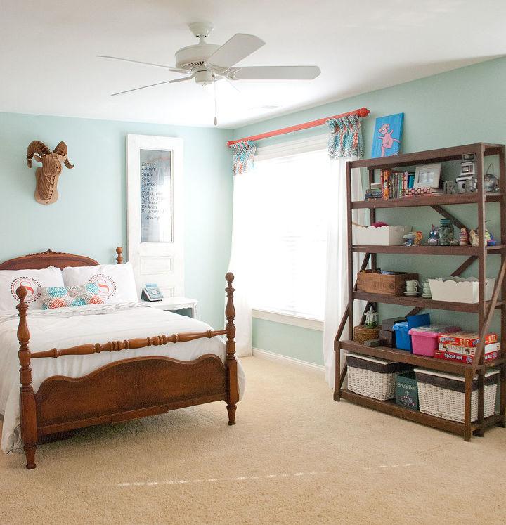 10 Great Ideas To Jazz Up A Small Square Bedroom: Eenage Daughter's Bedroom DIY Update