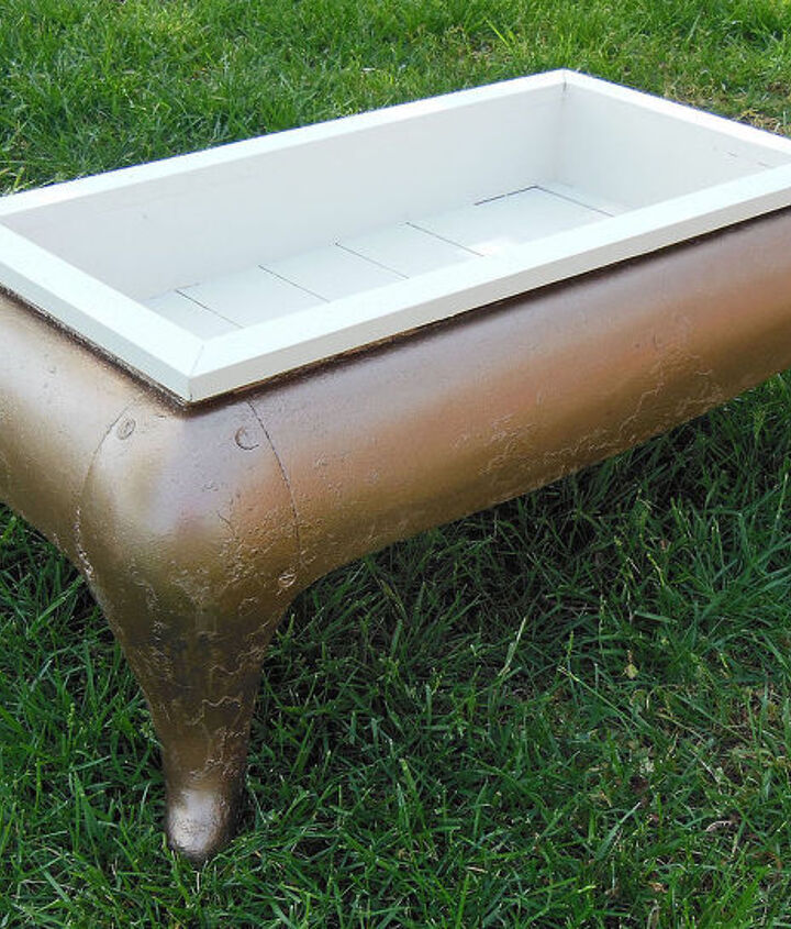 garden planter iron stove base upcycled, container gardening, gardening, repurposing upcycling