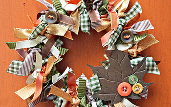 Make a Fall Wreath With Ribbons