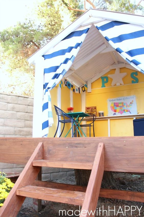 diy happy treehouse, diy, outdoor living, woodworking projects