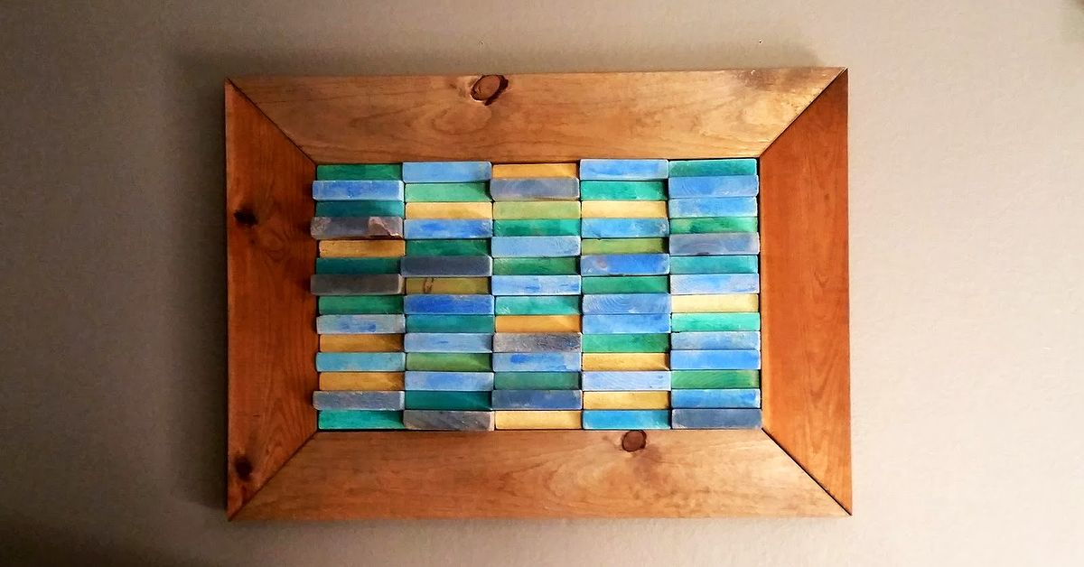 DIY Beach Block Art ~ Reuse End Pieces of Your Boards | Hometalk