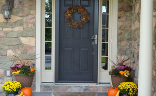 fall front porch decor wreath project, crafts, porches, seasonal holiday decor, wreaths
