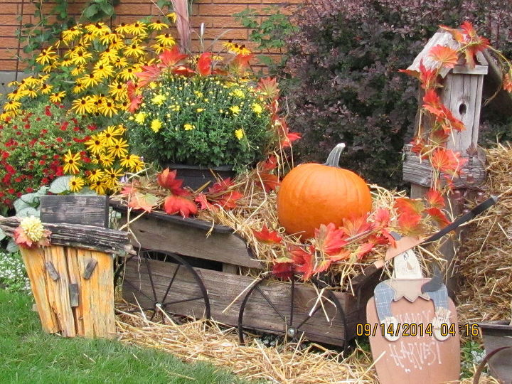 fall harvest decorations outdoors from yard fall harvest decorations hometalk  from yard fall harvest decorations