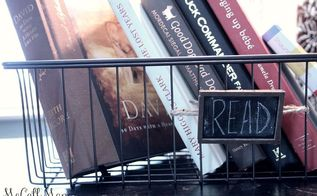 chalkboard ideas metal basket repurpose book holder, chalkboard paint, crafts, repurposing upcycling