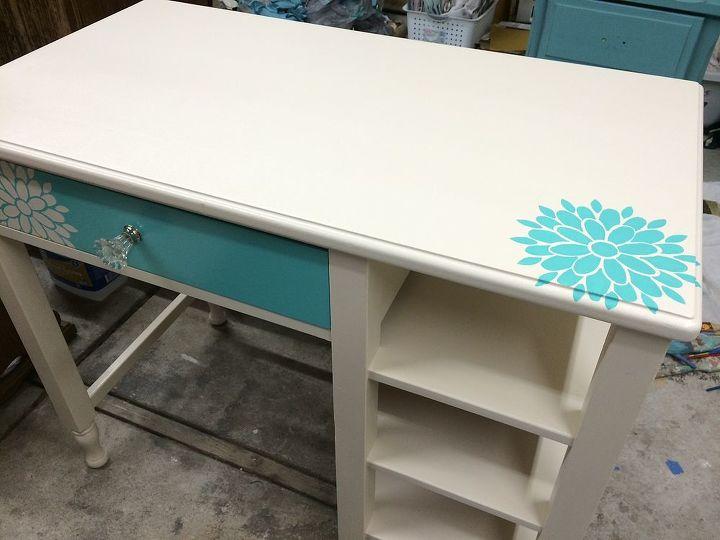 painted furniture nightstand desk girls bedroom custom, bedroom ideas, painted furniture