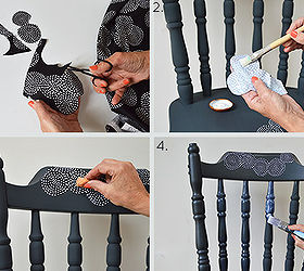 Decoupage Chair Tutorial, Decoupage, Home Decor, How To, Painted Furniture