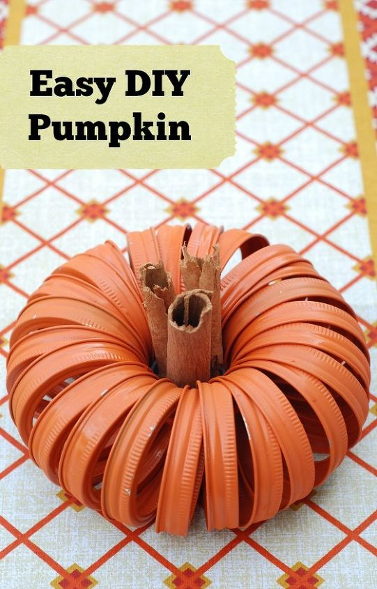 crafts fall canning jar lid pumpkin, crafts, halloween decorations, how to, repurposing upcycling, seasonal holiday decor