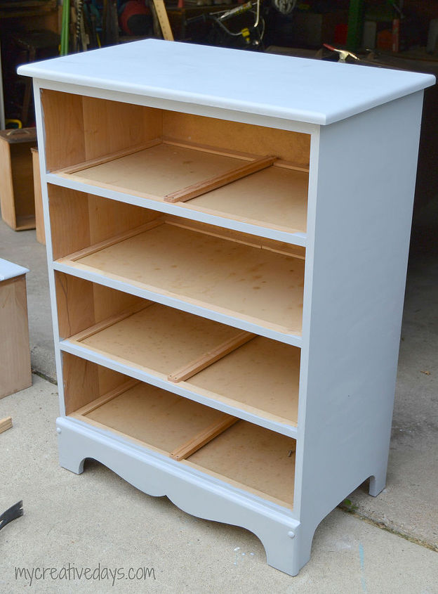 Painted Furniture Dresser Bookshelf Repurpose Antique Repurposing Upcycling Shelving Ideas