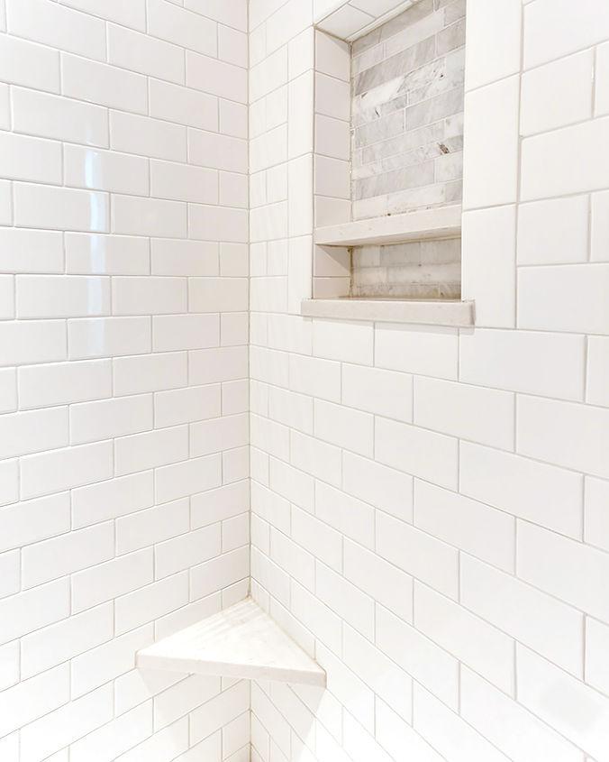Completed Shower - Subway Tile