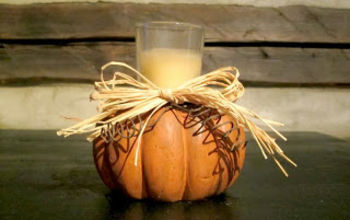 Pumpkin Candle Holder Made From the Foot of a Chair