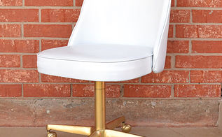 the 3 office chair makeover, painted furniture