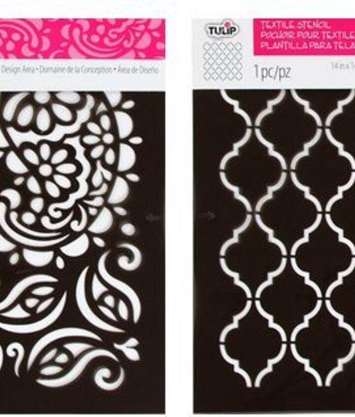 make a pretty canvas using tulip stencils, crafts