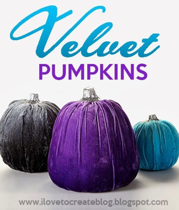 how to make velvet pumpkins, crafts, how to