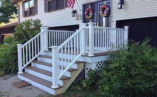front porch stairs renovation redo upgrade, curb appeal, porches