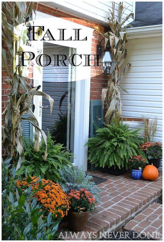 fall porch upcycled garden, porches, seasonal holiday decor