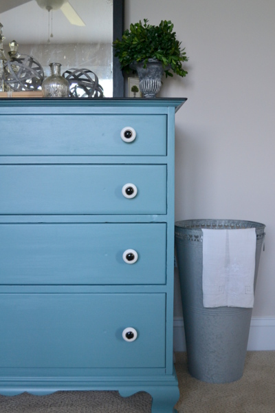 painted furniture dresser vintage blue black, painted furniture