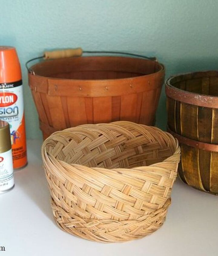 diy fall decor basket pumpkins, crafts, repurposing upcycling, seasonal holiday decor